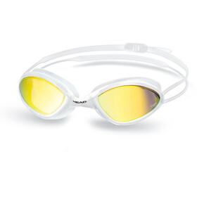 Head Tiger Race Mirrored LiquidSkin Lunettes de protection, white - smoke